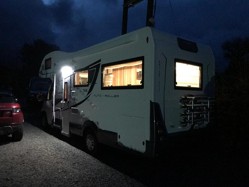 About-Moongazer-exterior-of-the-Vehicle-at-night-Cornish-Motorhome-Hire